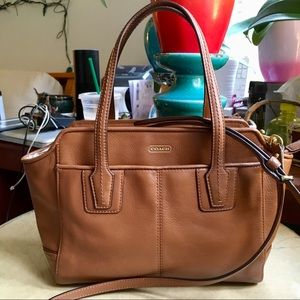 Coach brown leather Crossbody!